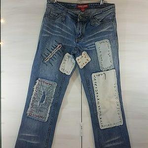 Guess denim patchwork jeans